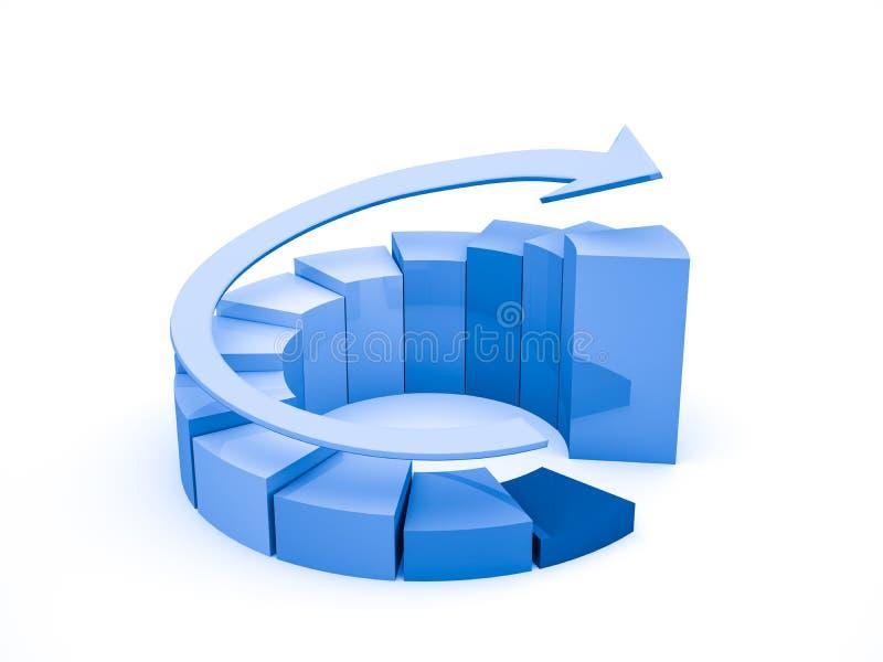 Geschäftsfinanzdiagramm, Diagramm, Grafik vektor abbildung