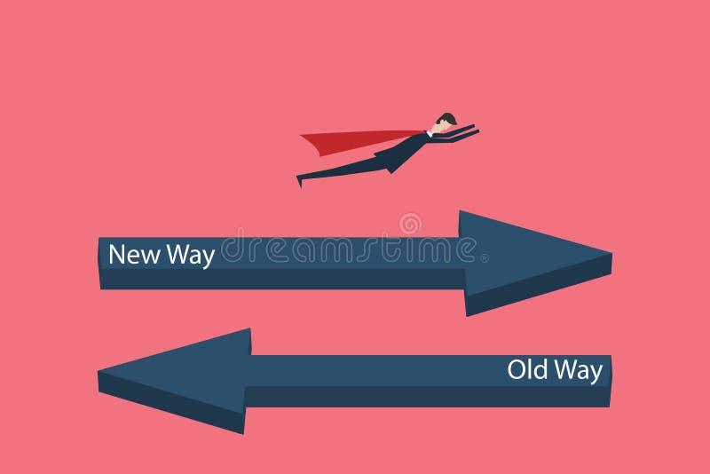 Geschäftsfinanzierung ändern Sie Managementkonzept mit Ikone des Geschäftsmannes, Symbolführung, Strategie, missi vektor abbildung