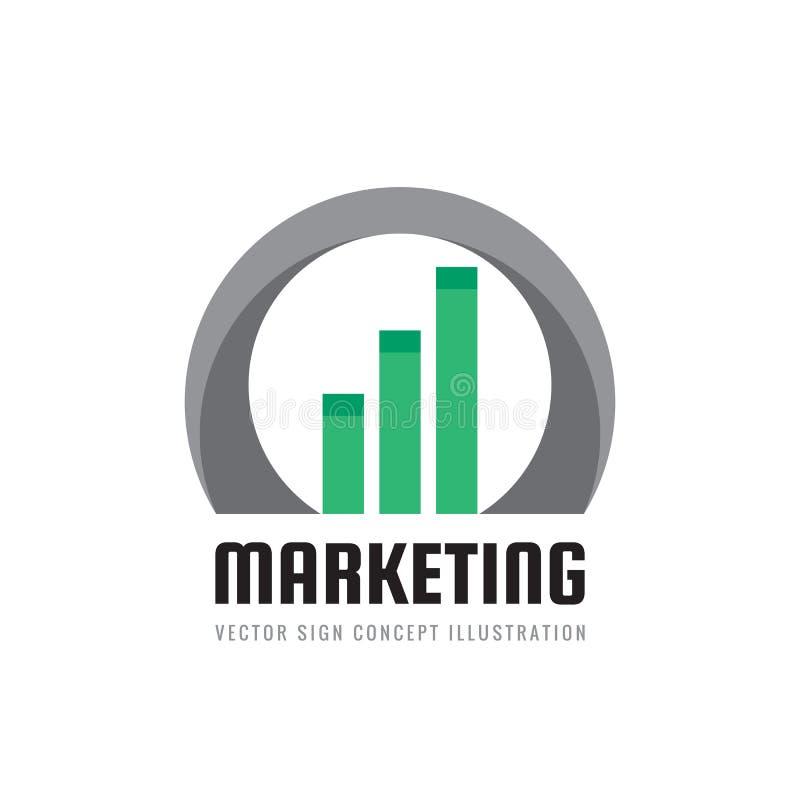 Geschäftsfinanzlogoschablone - vector Konzeptillustration Wirtschaftliches infographic Zeichen Pfeile und infograph Stange Wachst vektor abbildung