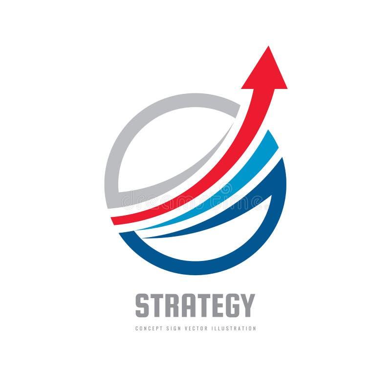 Geschäftsfinanzlogoschablone - vector Konzeptillustration Wirtschaftliches infographic Zeichen Pfeilwachstumsbildzeichen investit vektor abbildung