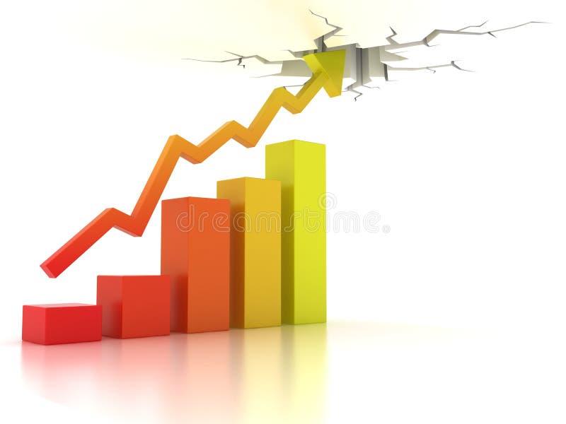 Geschäftsfinanzwachstumkonzept lizenzfreie abbildung