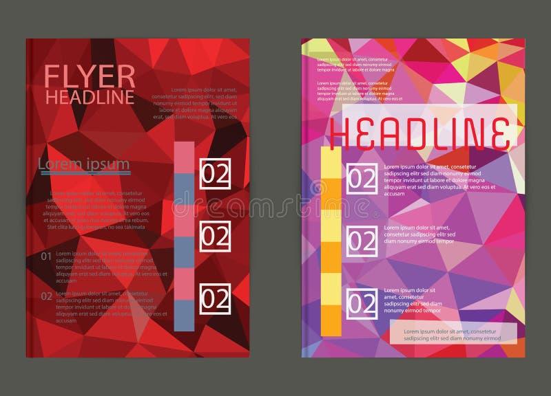 Geschäftsfliegerschablone oder Unternehmensfahne, Broschüre/Design herein vektor abbildung