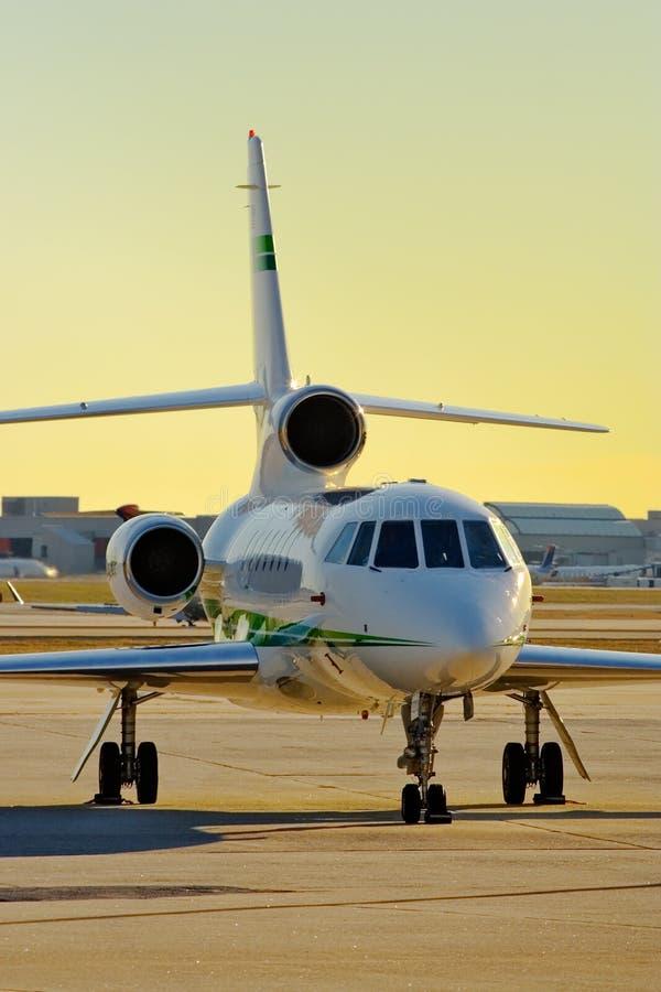 Geschäftsflugzeug stockfoto