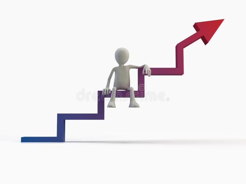 Geschäftsfortschritt Statistiken lizenzfreies stockbild