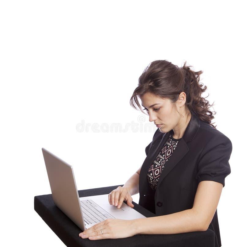 Download Geschäftsfrau stockfoto. Bild von kommunikationen, schönheit - 12200500
