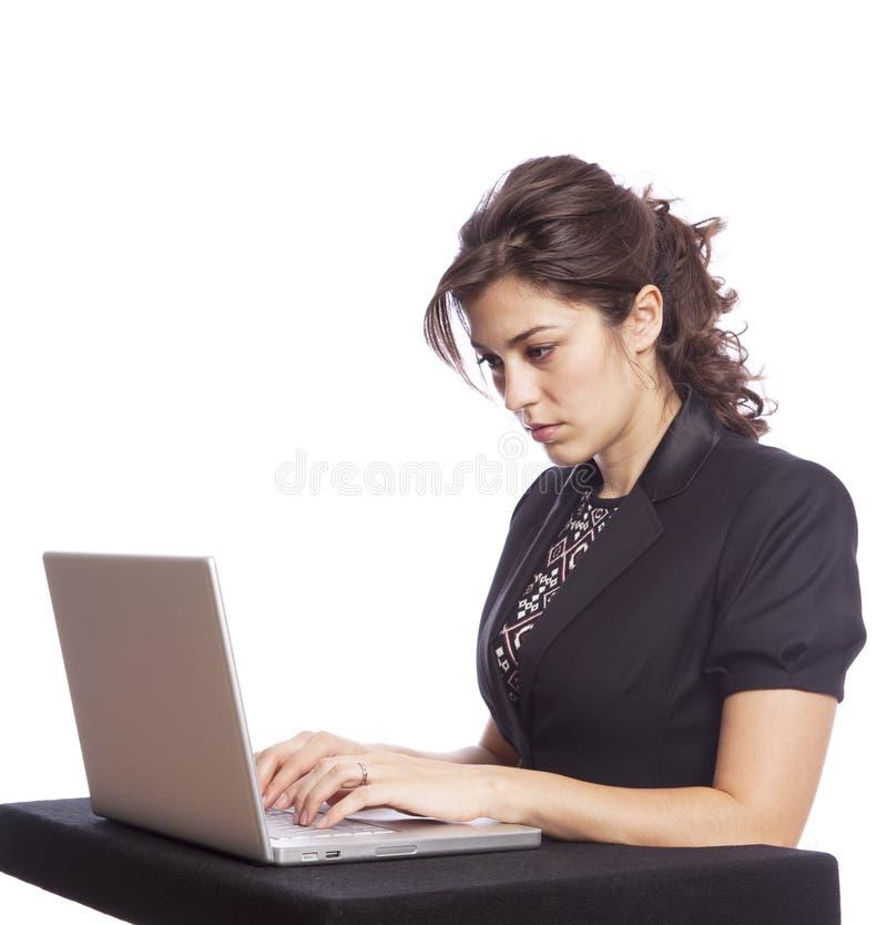 Download Geschäftsfrau stockfoto. Bild von weiß, schönheit, farbe - 12200506