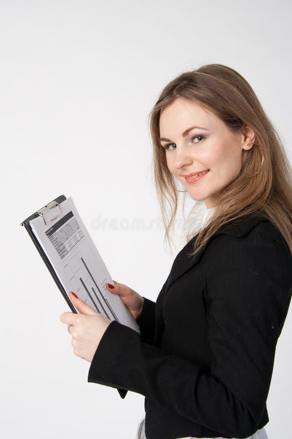 Geschäftsfrau. lizenzfreies stockbild