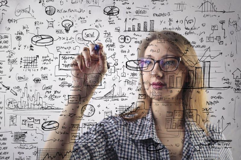 Geschäftsfrau stock abbildung