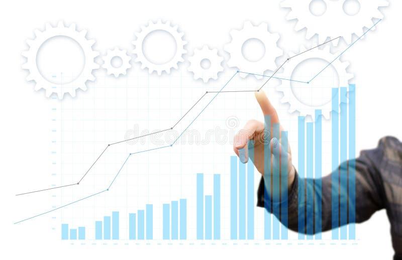 Geschäftsfrau analysiert lizenzfreie stockfotos