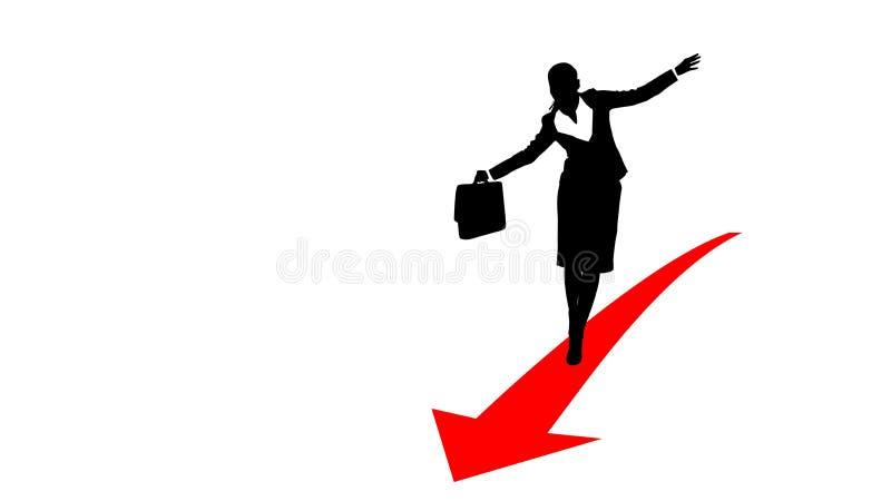 Geschäftsfrau arrow1 lizenzfreie abbildung