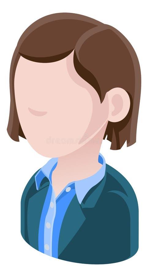 Geschäftsfrau-Avatara-Leute-Ikone lizenzfreie abbildung