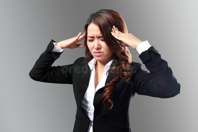 Geschäftsfrau betont lizenzfreie stockbilder