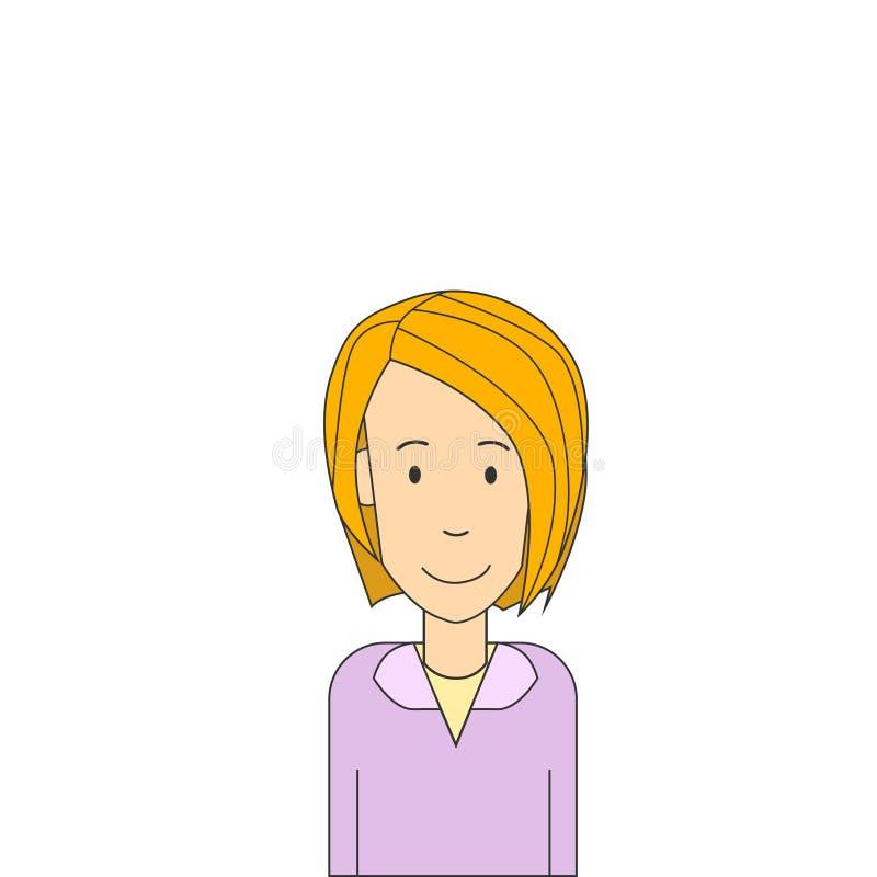 Geschäftsfrau-Blond Pretty Portrait lokalisierte Geschäftsfrau vektor abbildung