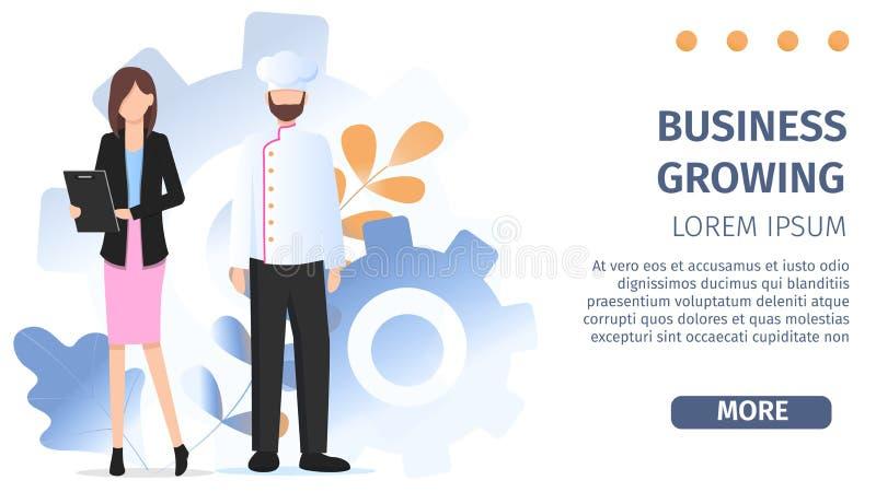 Geschäftsfrau-Charakter-Chef Occupation Choice stock abbildung