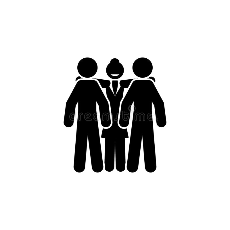 Geschäftsfrau, Chefikone Element der Geschäftsfrauikone Erstklassige Qualitätsgrafikdesignikone Zeichen und Symbolsammlungsikone  lizenzfreie abbildung