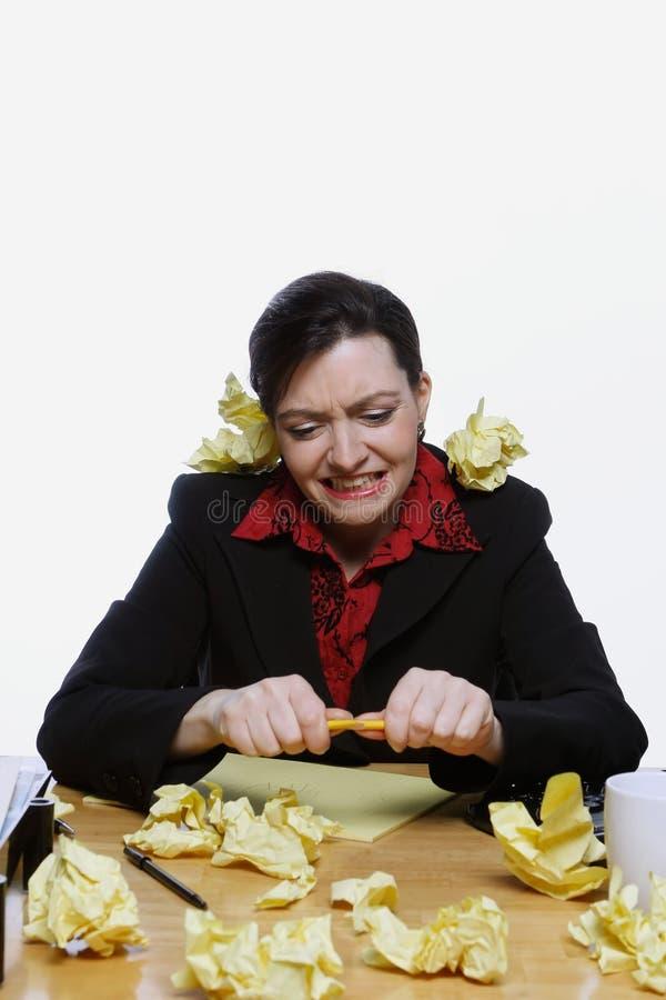 Geschäftsfrau Clowning Around lizenzfreie stockfotos