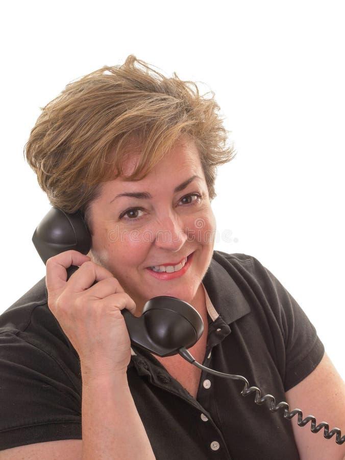 Download Geschäftsfrau, Die Einen Telefonaufruf Nimmt Stockbild - Bild von älter, frau: 26366753