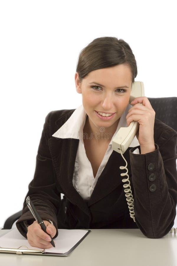 Geschäftsfrau, die Kenntnisse nimmt lizenzfreie stockfotos
