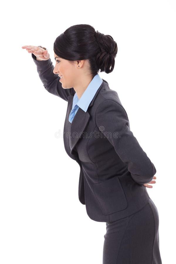 Geschäftsfrau, die nach vorn schaut lizenzfreie stockfotos