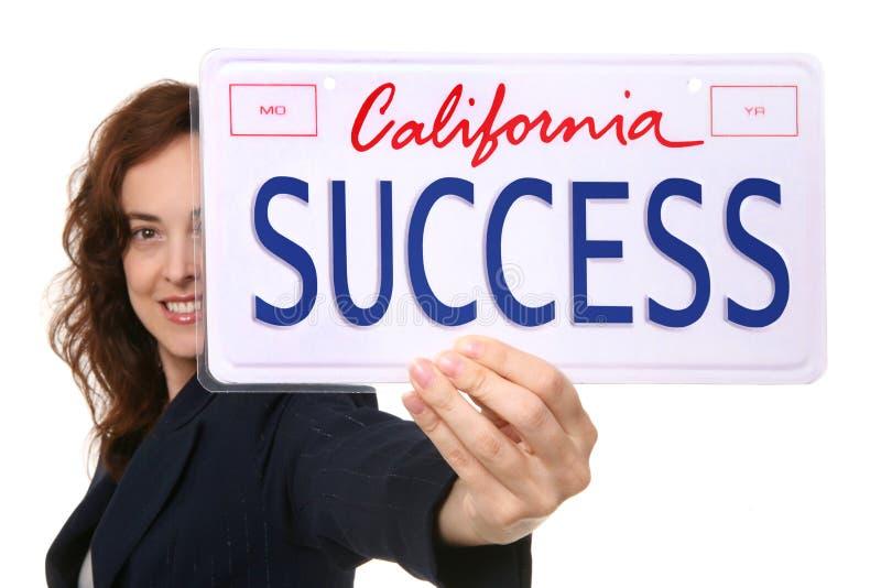 Geschäftsfrau-Erfolg stockfotografie