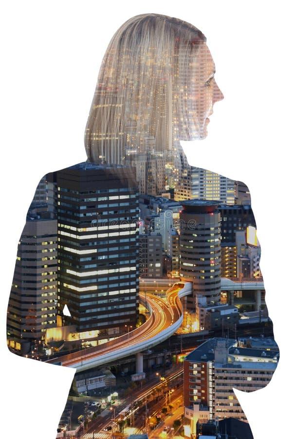 Geschäftsfrau-Geschäftsfraukarriereführungs-Erfolgsmanager c lizenzfreies stockfoto