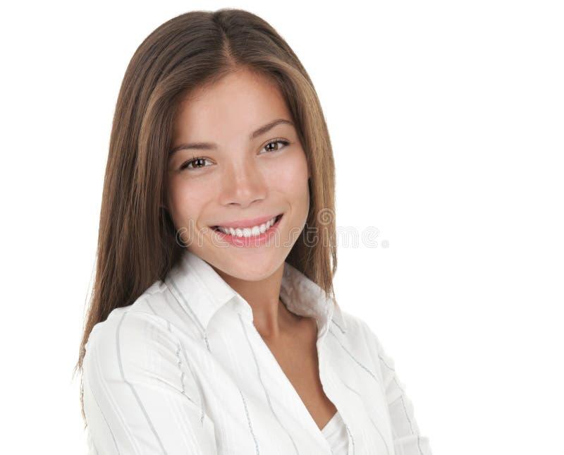 Geschäftsfrau getrennt auf weißem Hintergrund stockfotos