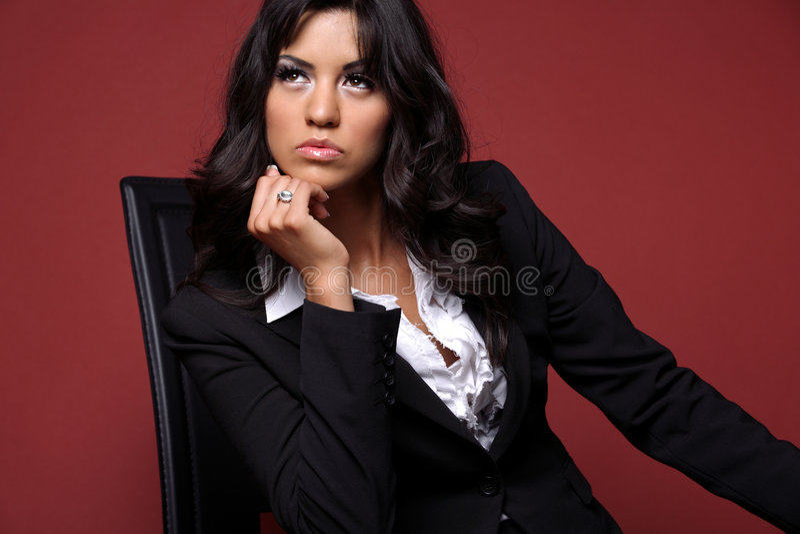 Geschäftsfrau im Schwarzen. stockfotos