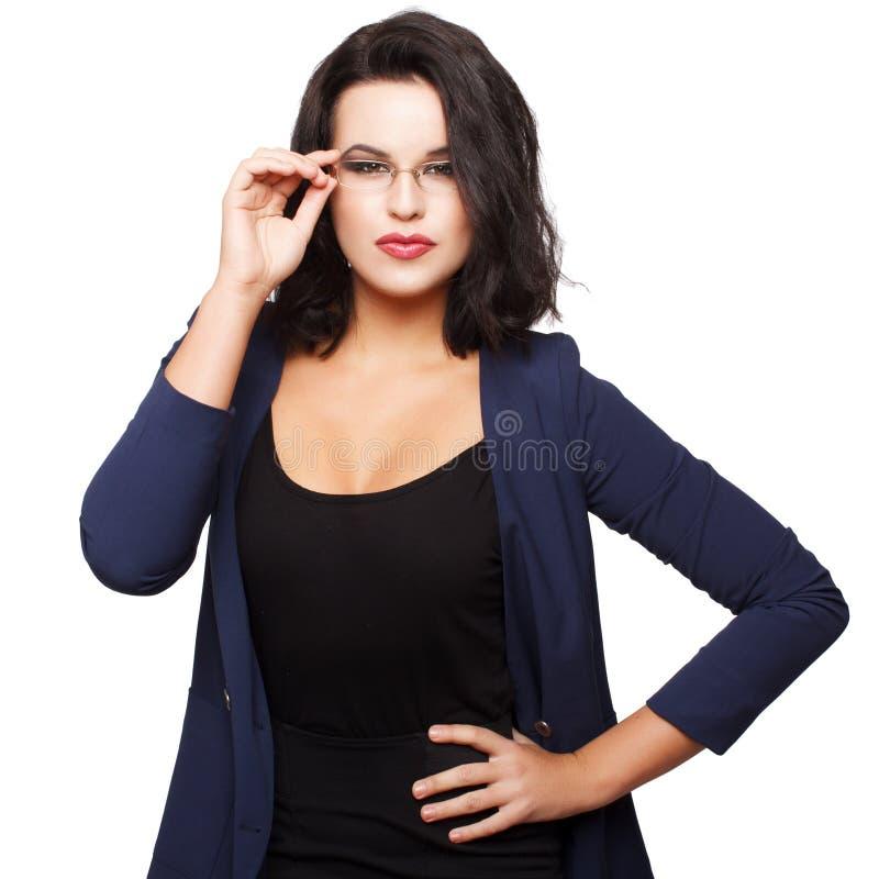 Geschäftsfrau lokalisiert stockfoto