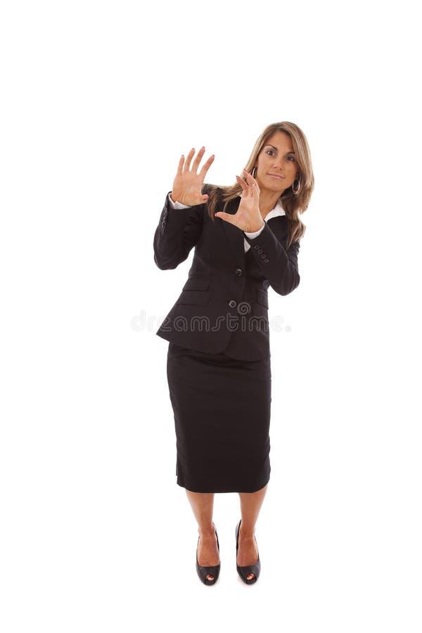 Geschäftsfrau mit Furcht stockfotos