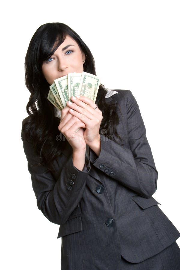 Geschäftsfrau mit Geld lizenzfreie stockbilder