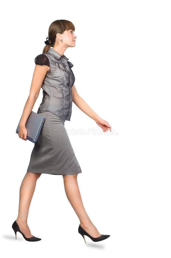 Geschäftsfrau mit Laptop stockfotos