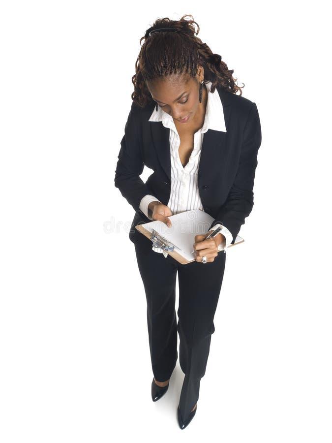 Geschäftsfrau - Nehmen der Kenntnisse stockfotos