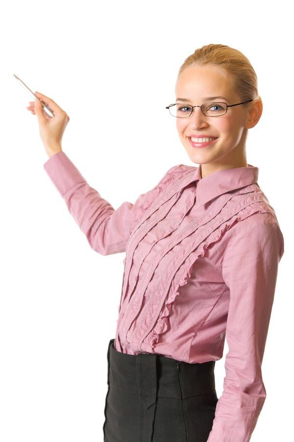 Geschäftsfrau oder Lehrer stockfotografie