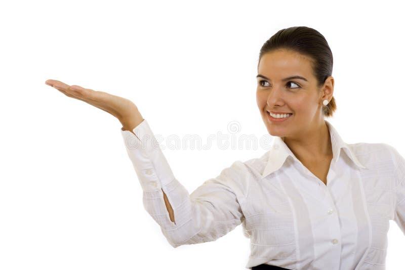 Geschäftsfrau oder Lehrer bei der Konferenz lizenzfreie stockfotos