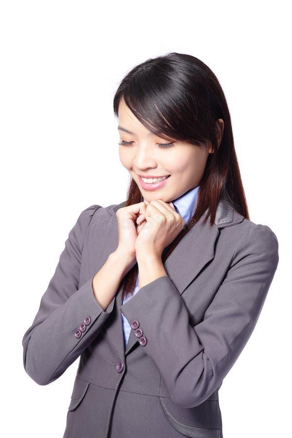 Geschäftsfrau-Tagesträumen lizenzfreie stockfotografie