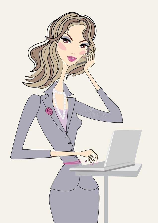 Geschäftsfrau, Vektor vektor abbildung
