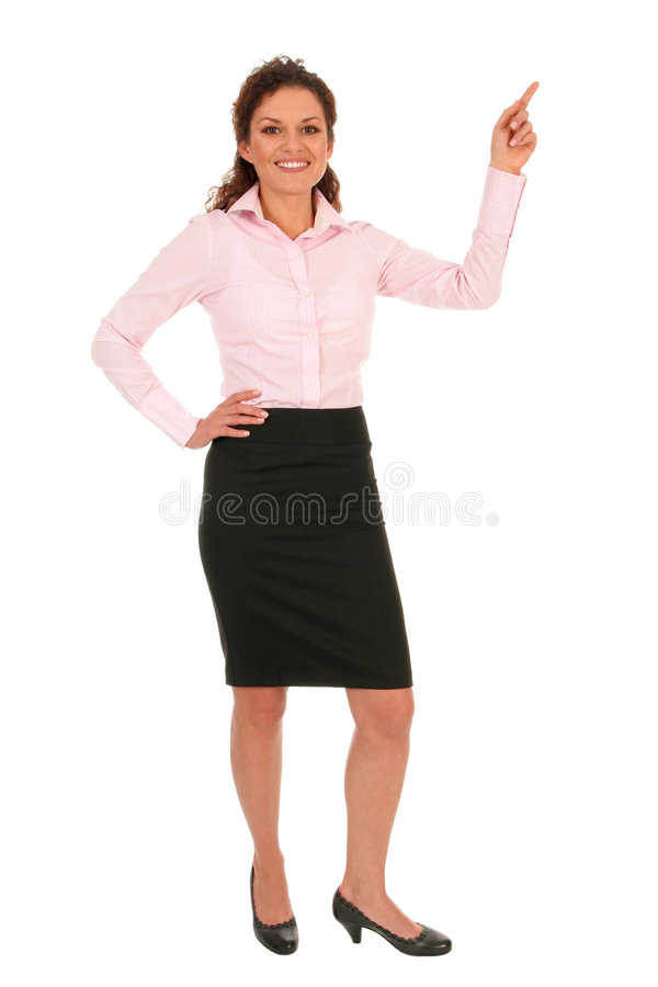 Geschäftsfrau-Zeigen stockfoto