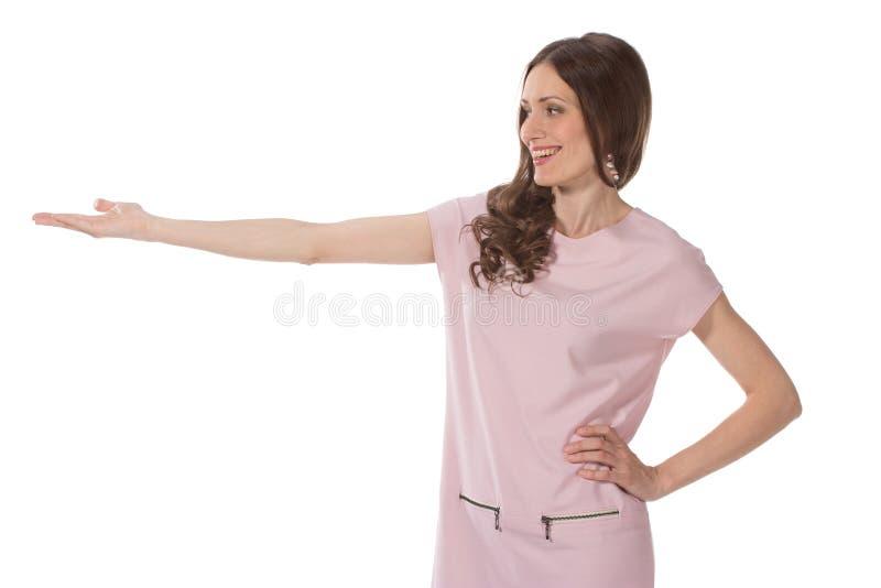 Geschäftsfrau zeigt die Weise stockfoto
