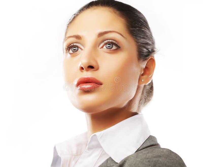 Geschäftsfrauabschluß oben stockfotos