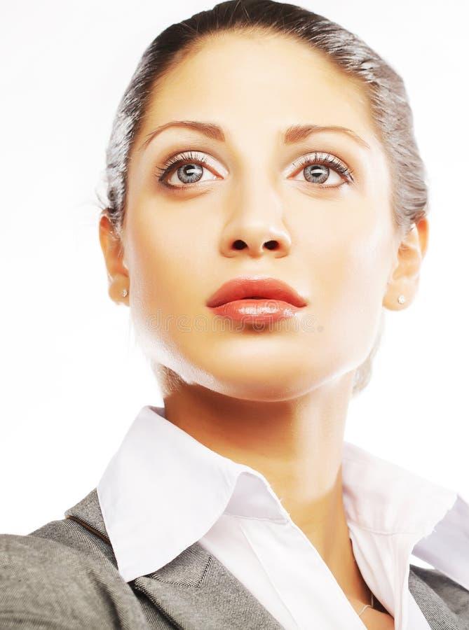 Geschäftsfrauabschluß oben stockbilder