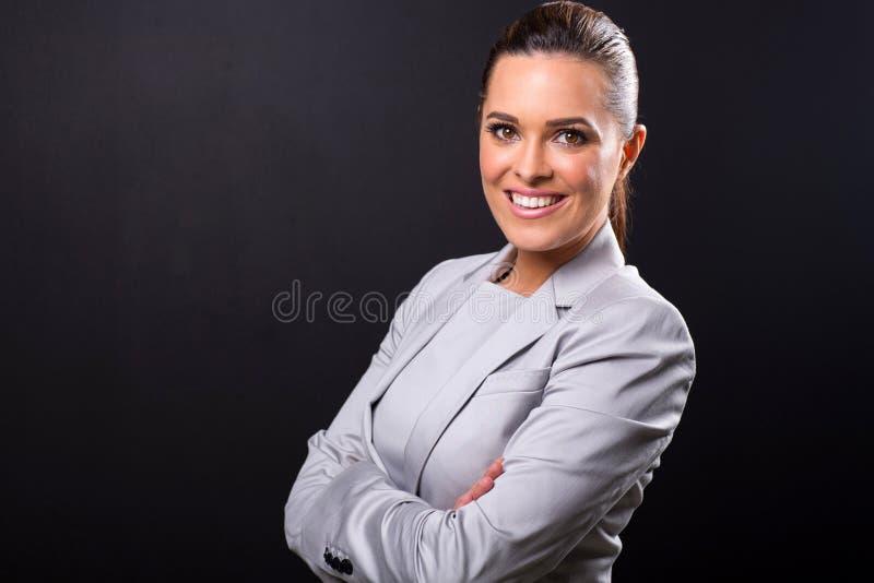 Geschäftsfrauabschluß oben lizenzfreie stockfotografie