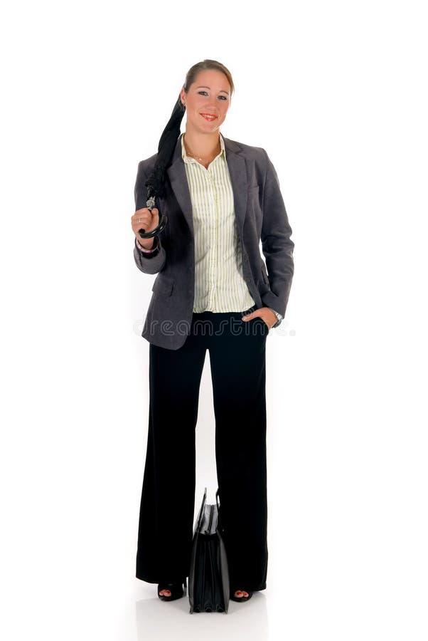 Geschäftsfrauaktenkoffer lizenzfreie stockfotografie