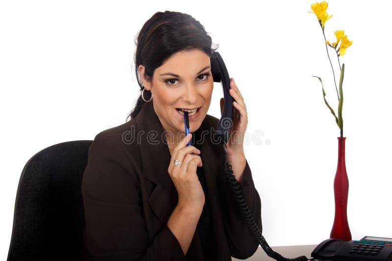 Geschäftsfraubüro lizenzfreie stockfotos