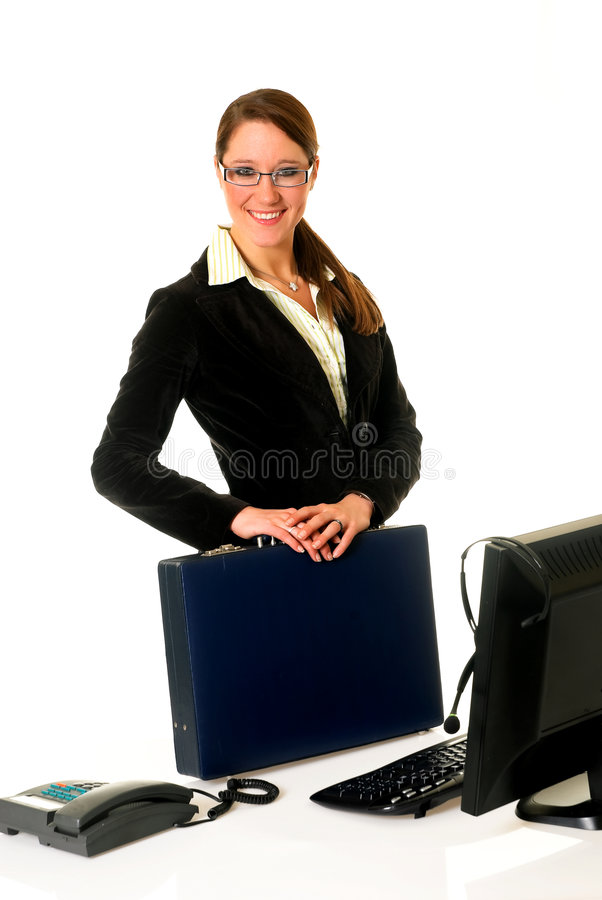 Geschäftsfraubüro lizenzfreies stockfoto