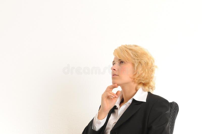 Geschäftsfraudenken lizenzfreie stockfotografie