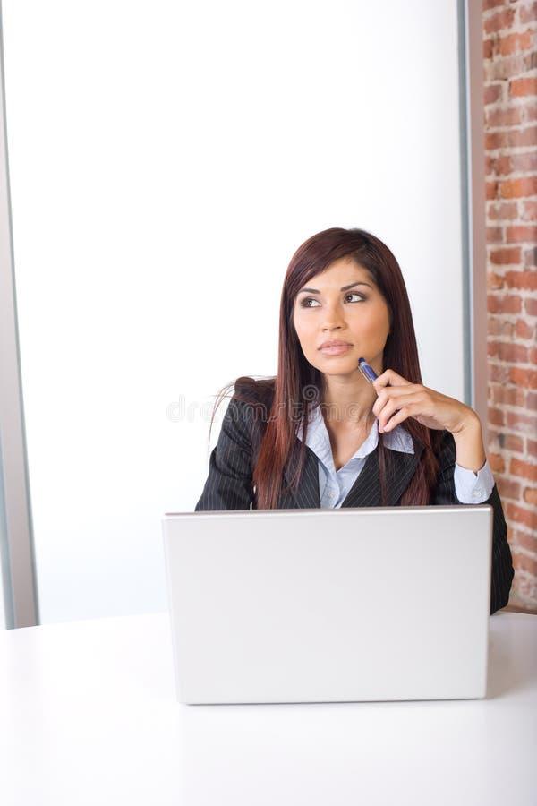 Geschäftsfraudenken lizenzfreie stockfotos