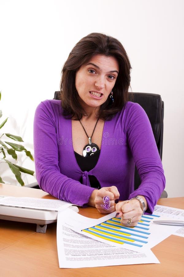 Geschäftsfraudruck stockfoto
