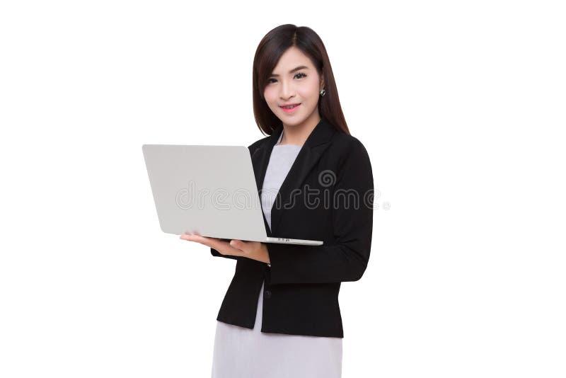 Geschäftsfrauen… und Ihr Finger ist oben stockfoto