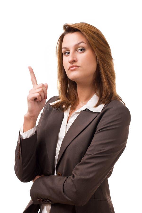 Geschäftsfrauen mit ernstem Gesicht stockfotografie