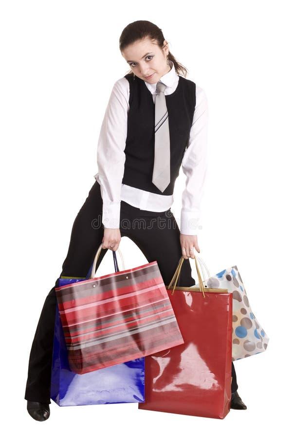 Geschäftsfrauen mit Gruppe Beuteleinkaufen. stockfoto
